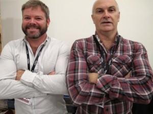 Redmond Sweeney (l), Tony Davis (r)
